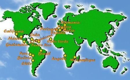 escolas e centros Amor de Deus no mundo