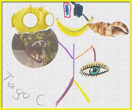 Desenho e Colagem de Tiago C 6C