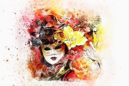 pintura de máscara feminina