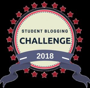 emblema do desafio de blogging para estudantes