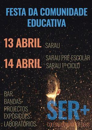 cartaz do sarau contra fundo preto, estrelado, mostra  as datas e anuncia o espetáculo