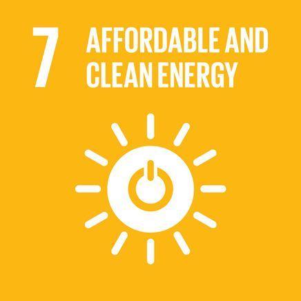energia limpa e sustentável símbolo amarelo das metas com um sol radiante branco