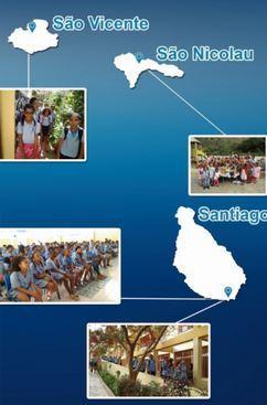 três ilhas de cabo verde e 3 fotos dos alunos