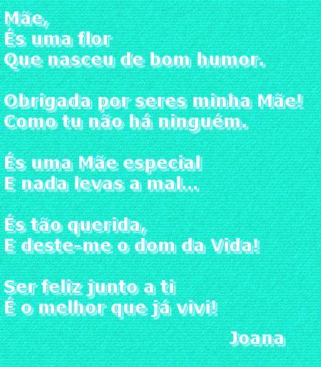 Poema da joana a sua Mae